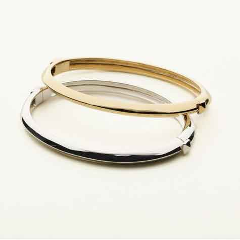 BANGLE STUD LOCK - SILVER