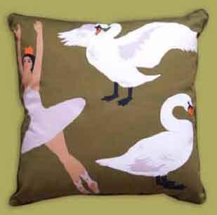 Cushion 65x65 Swan Lake