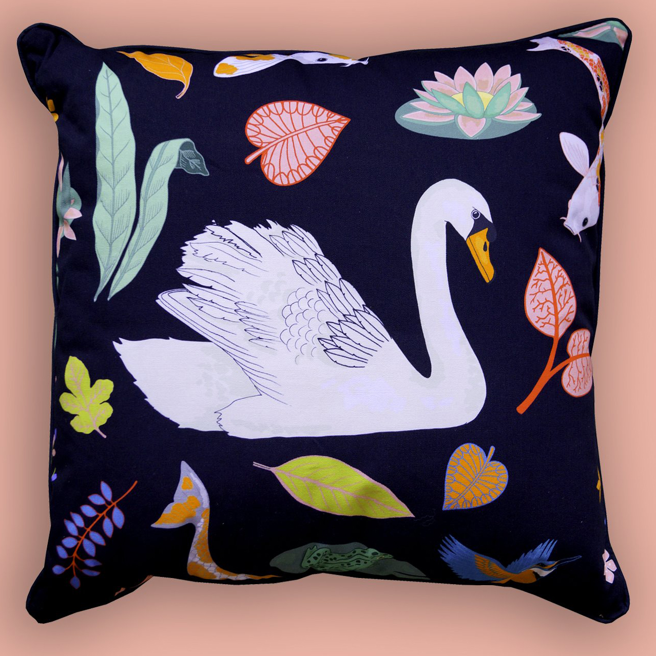 Cushion 45x45 Swan Lake