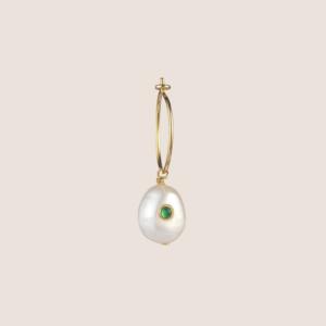 Pearl Hoop Earring