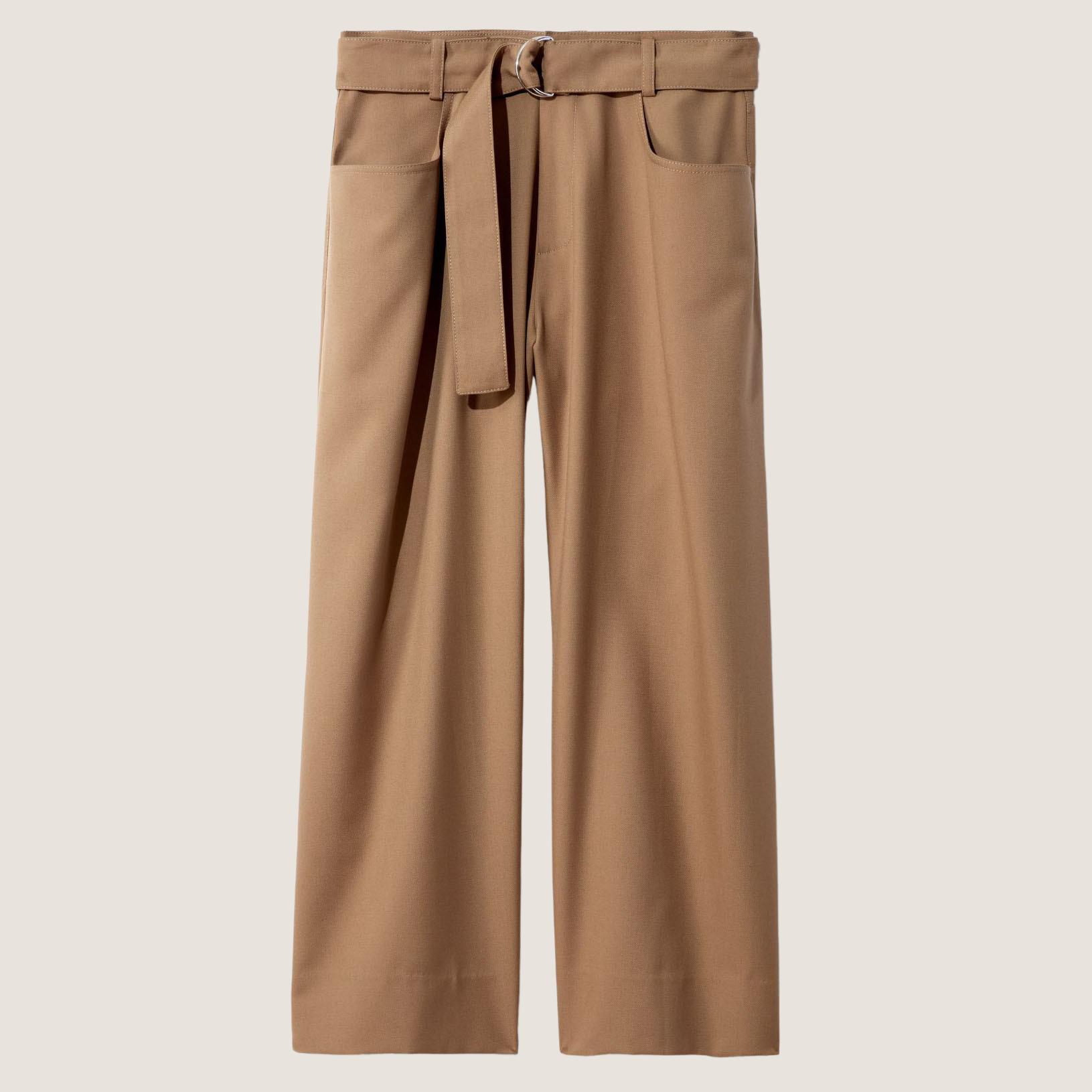 High Waist Wool Pants