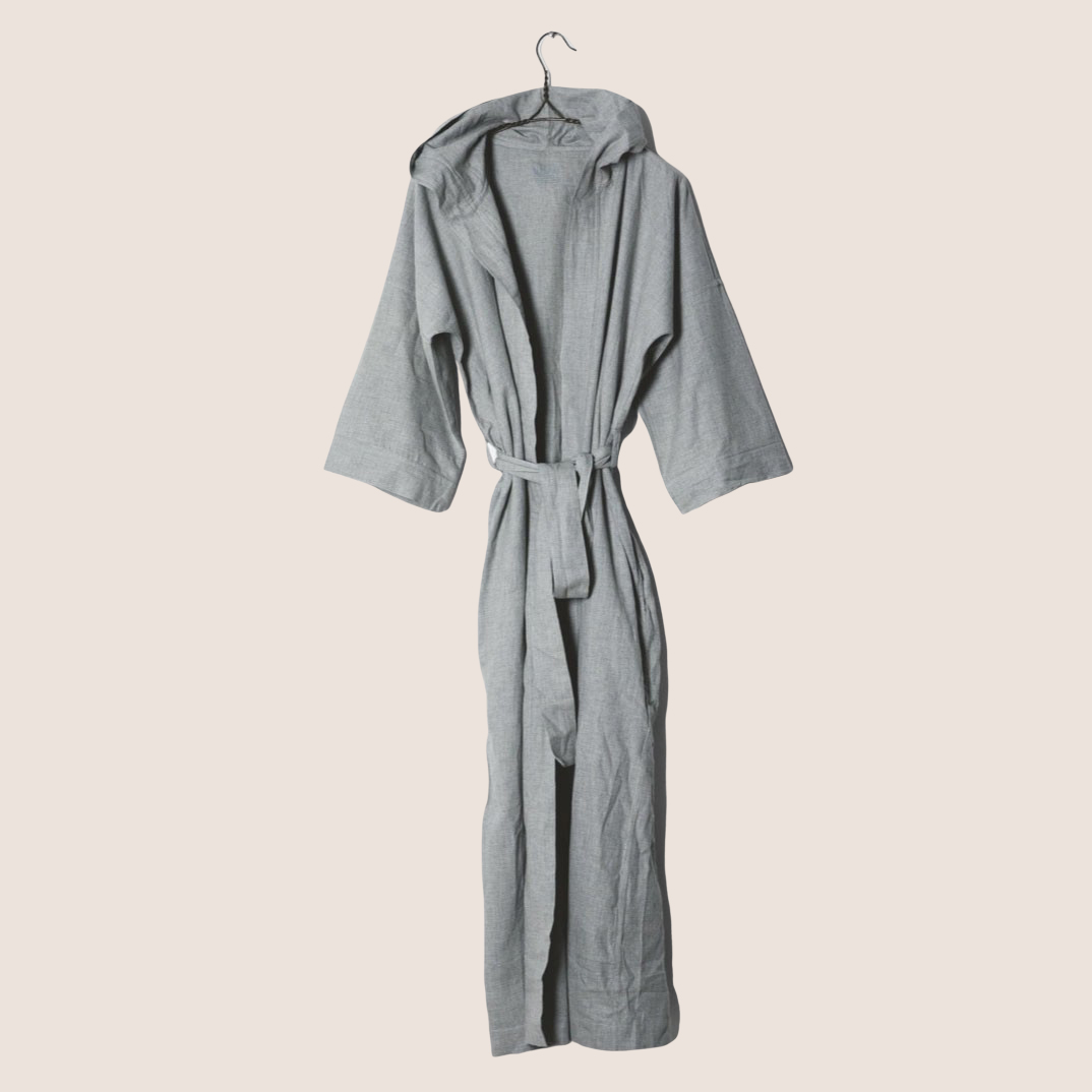 Hooded Bathrobe - Flannel
