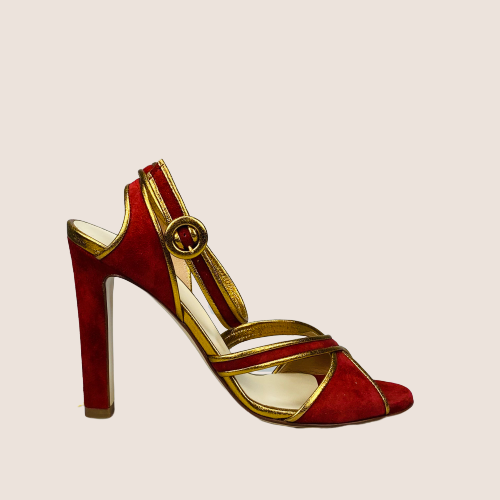 High Heel Suede Sandal