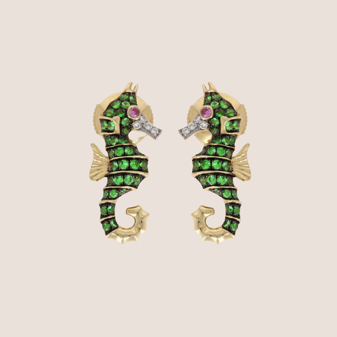 Earring Boucles Hippocampe
