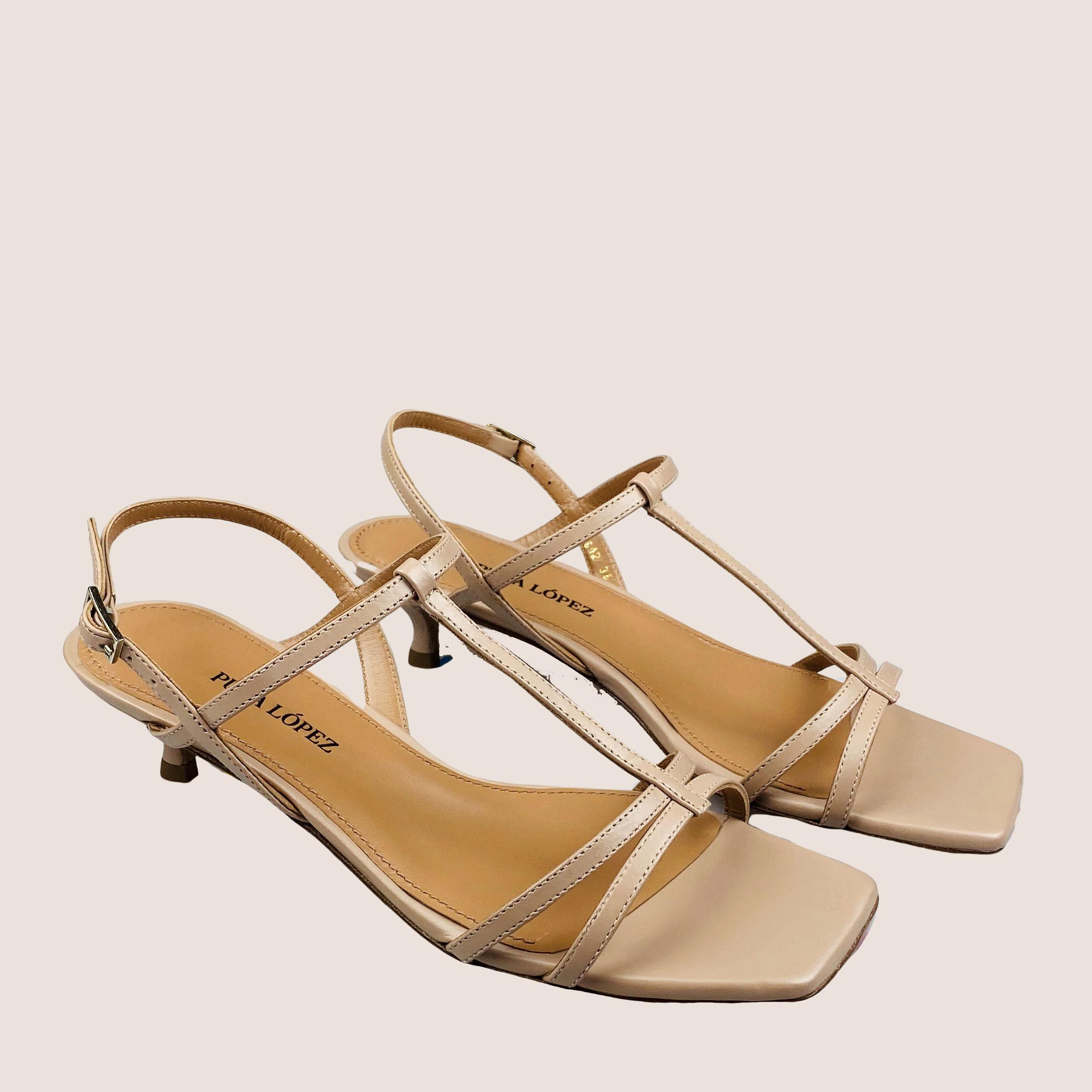 Kitten-heel Sandal