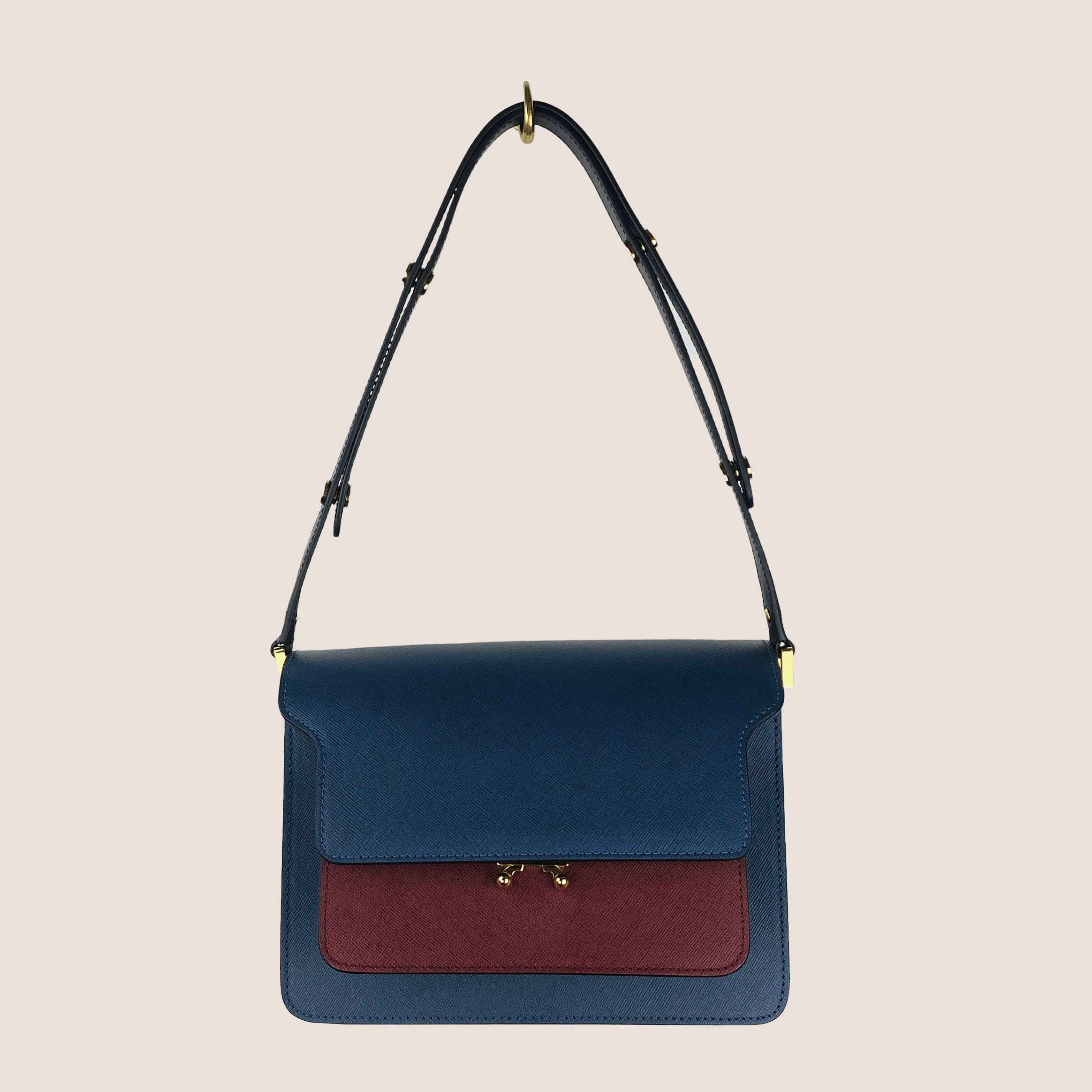 Trunk Bag Small Saffiano Multi