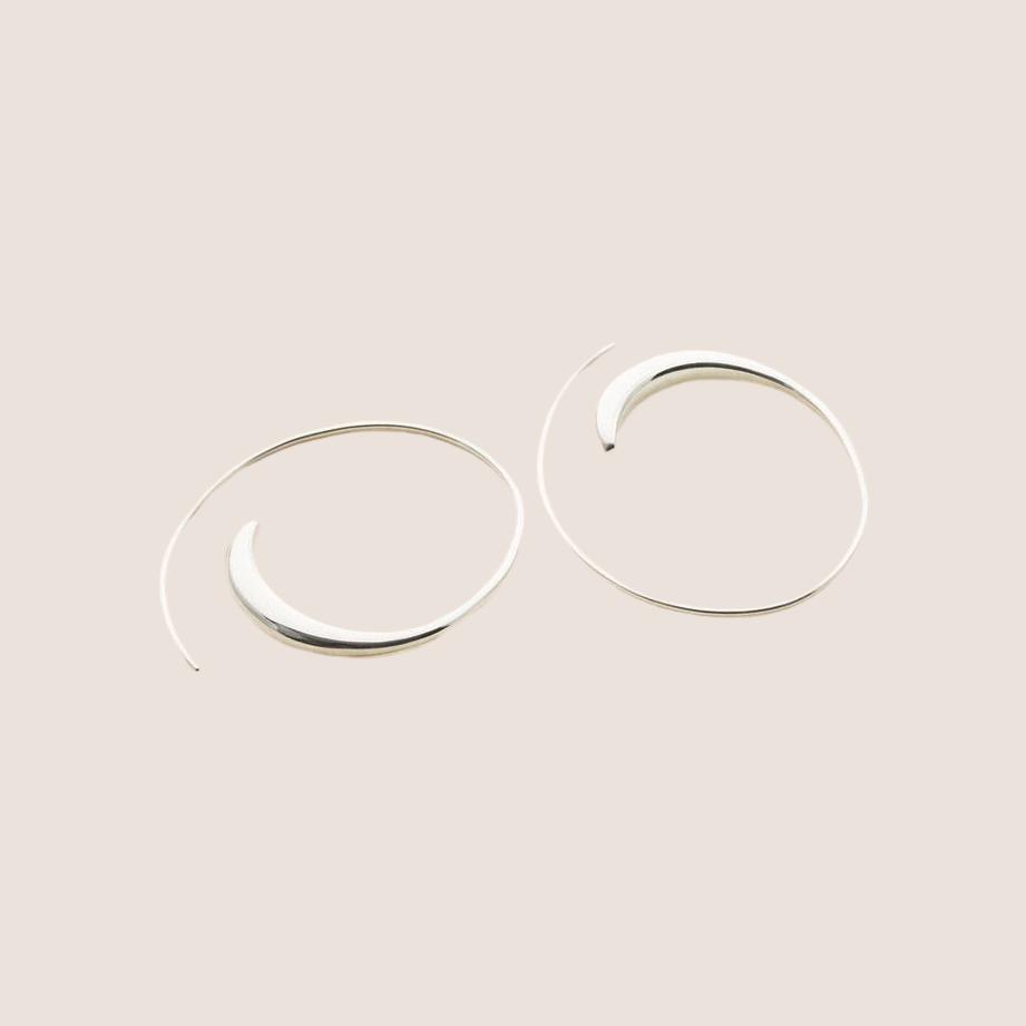 Assymmetric Hoop - Small Silver