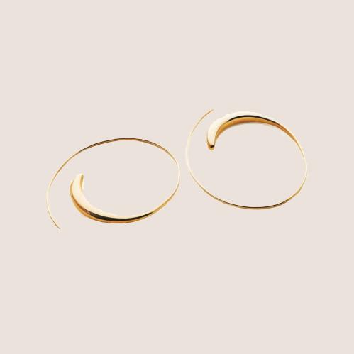 Assymmetric Hoop Small Gold