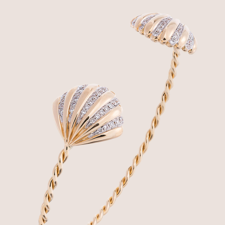 Bracelet Coquillage or Jaune