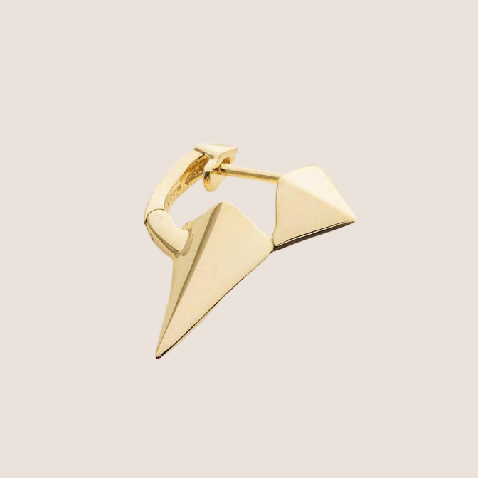 Long Stud Earring - Gold Plated