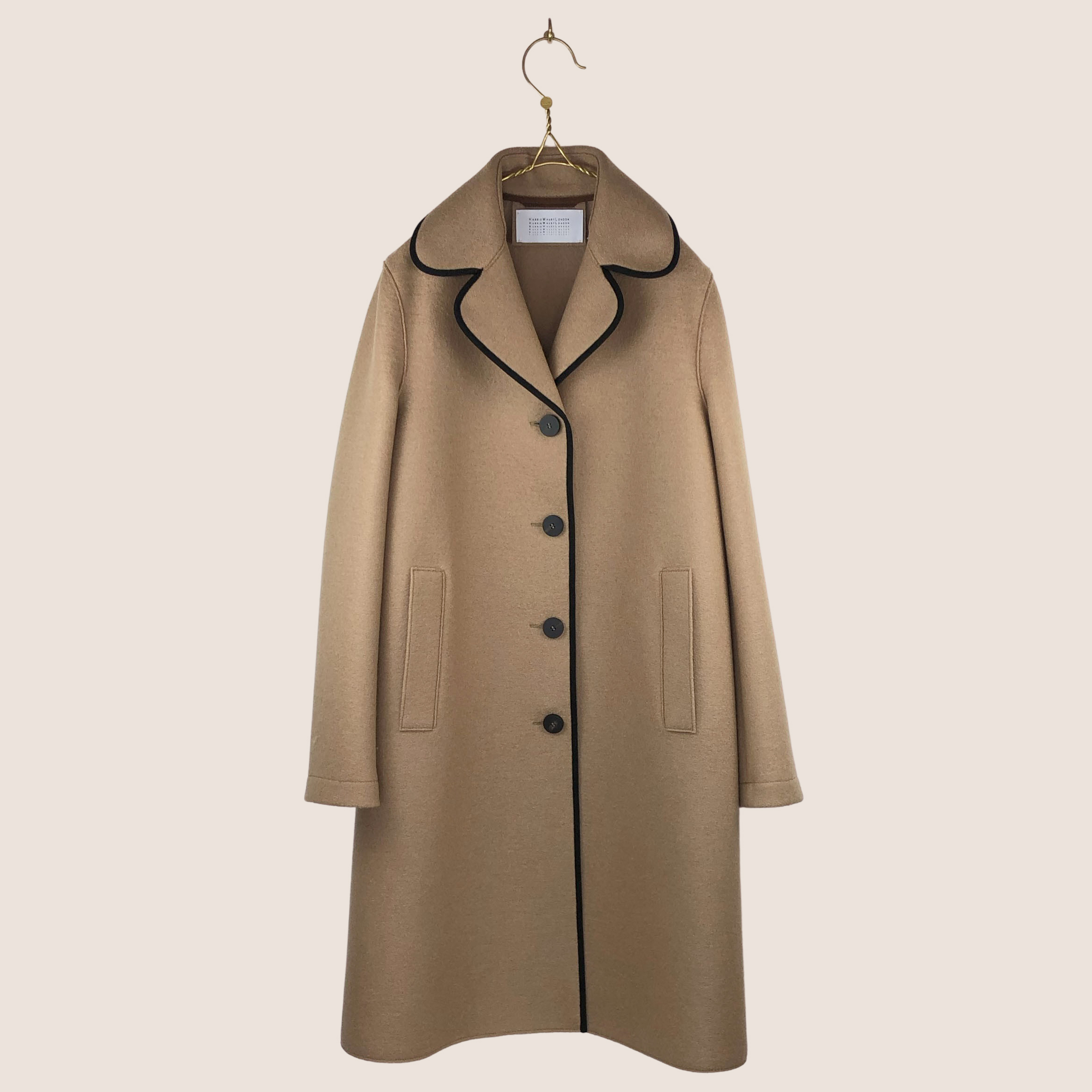Contrast Piped Coat