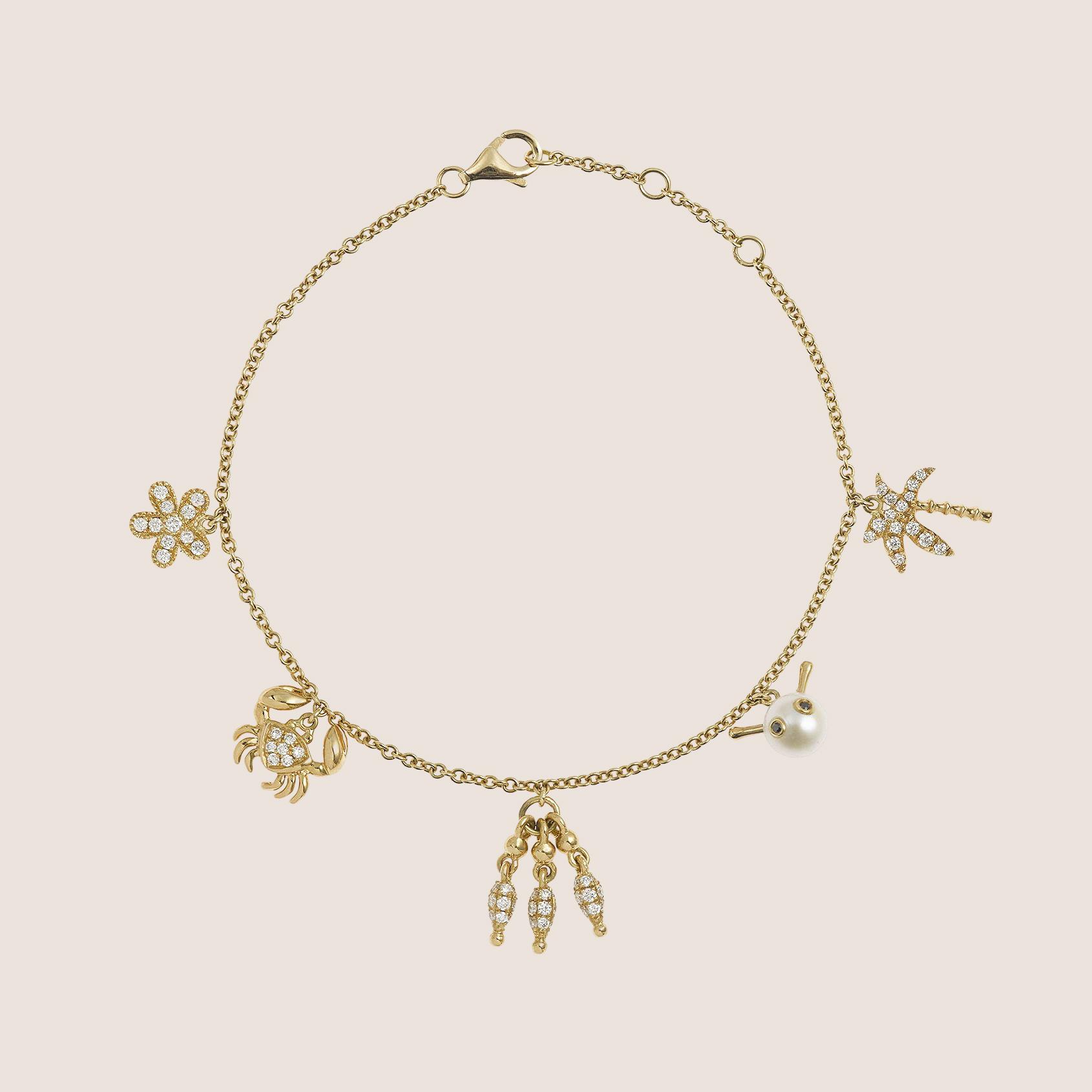 Bracelet Charm's Or June