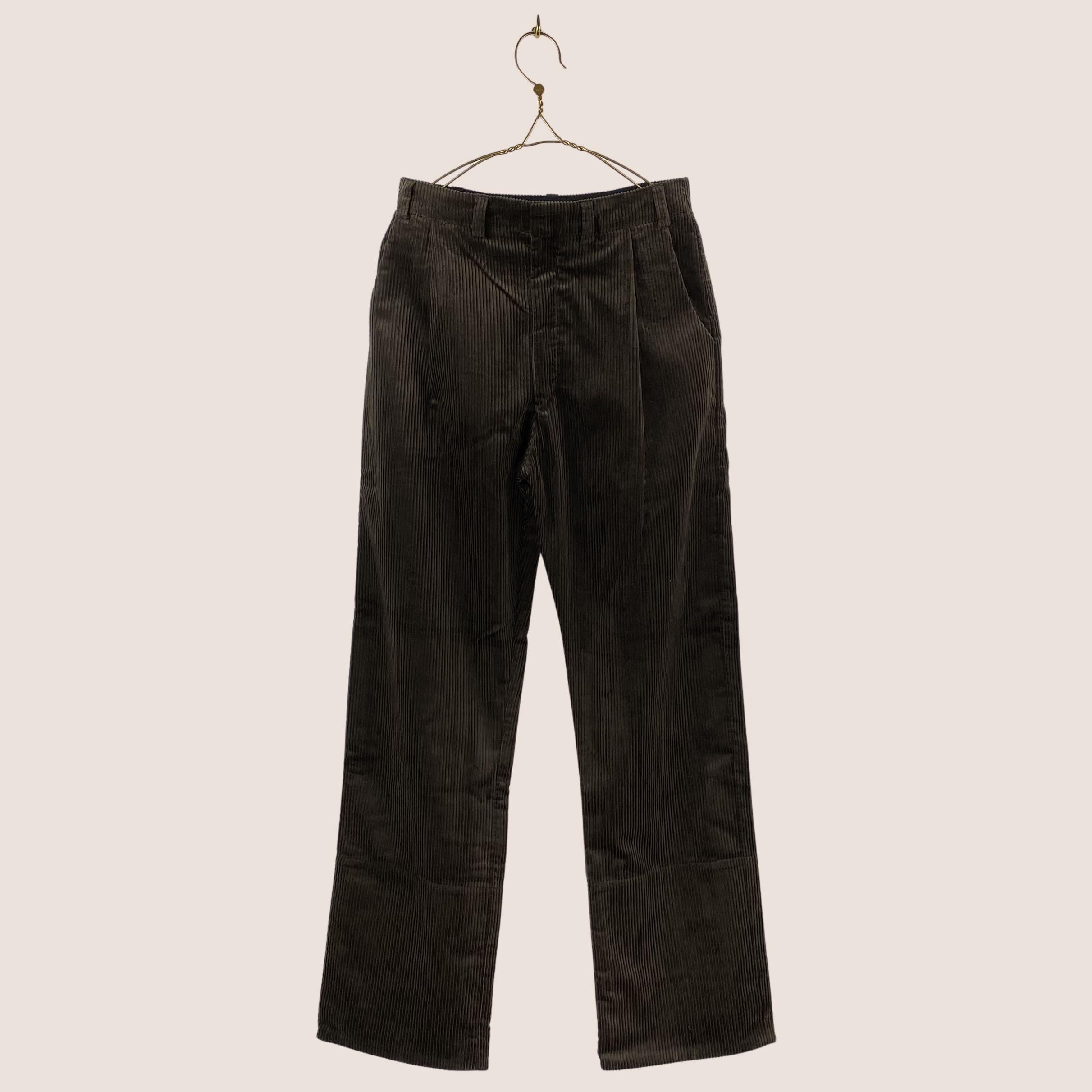 Corduroy Box Trousers