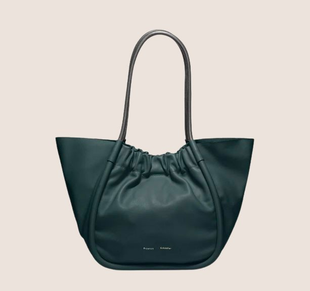 L Ruched Tote Smooth Calf