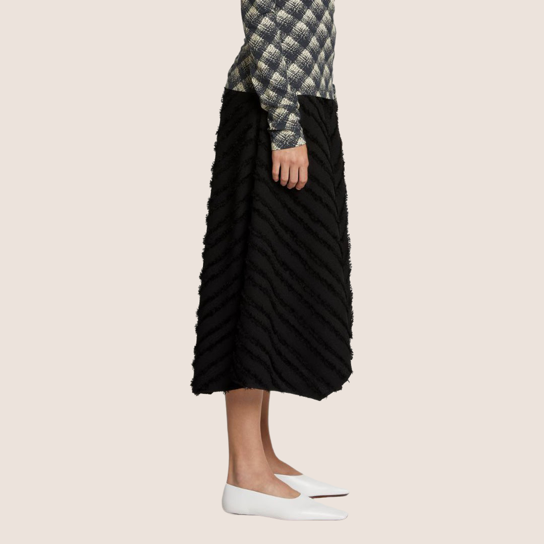 Fringe Fil Coupe Skirt