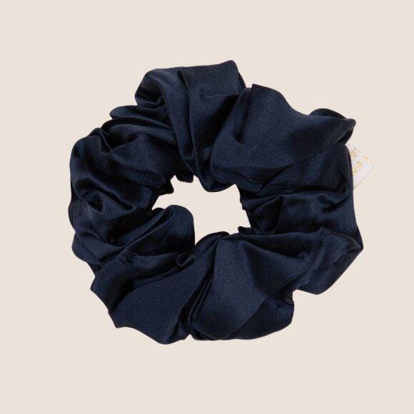 Silk Scrunchie Navy