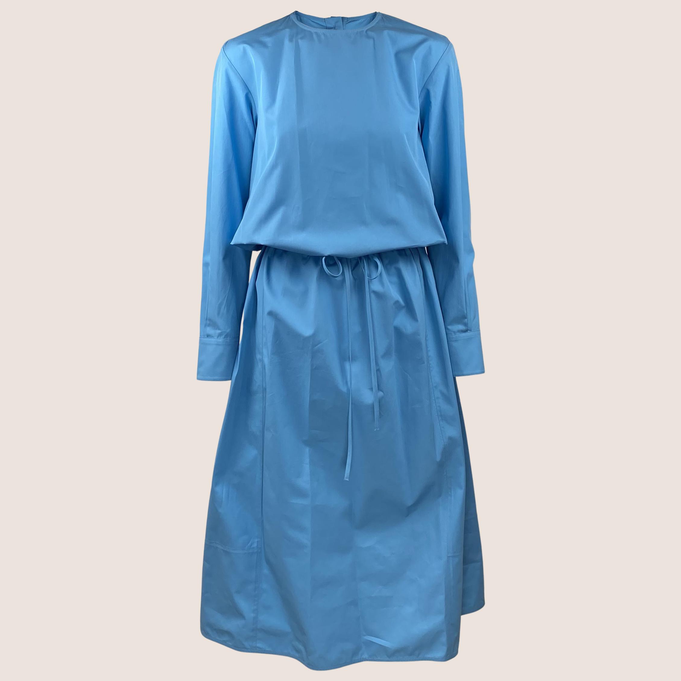 Bright Blue Poplin Dress