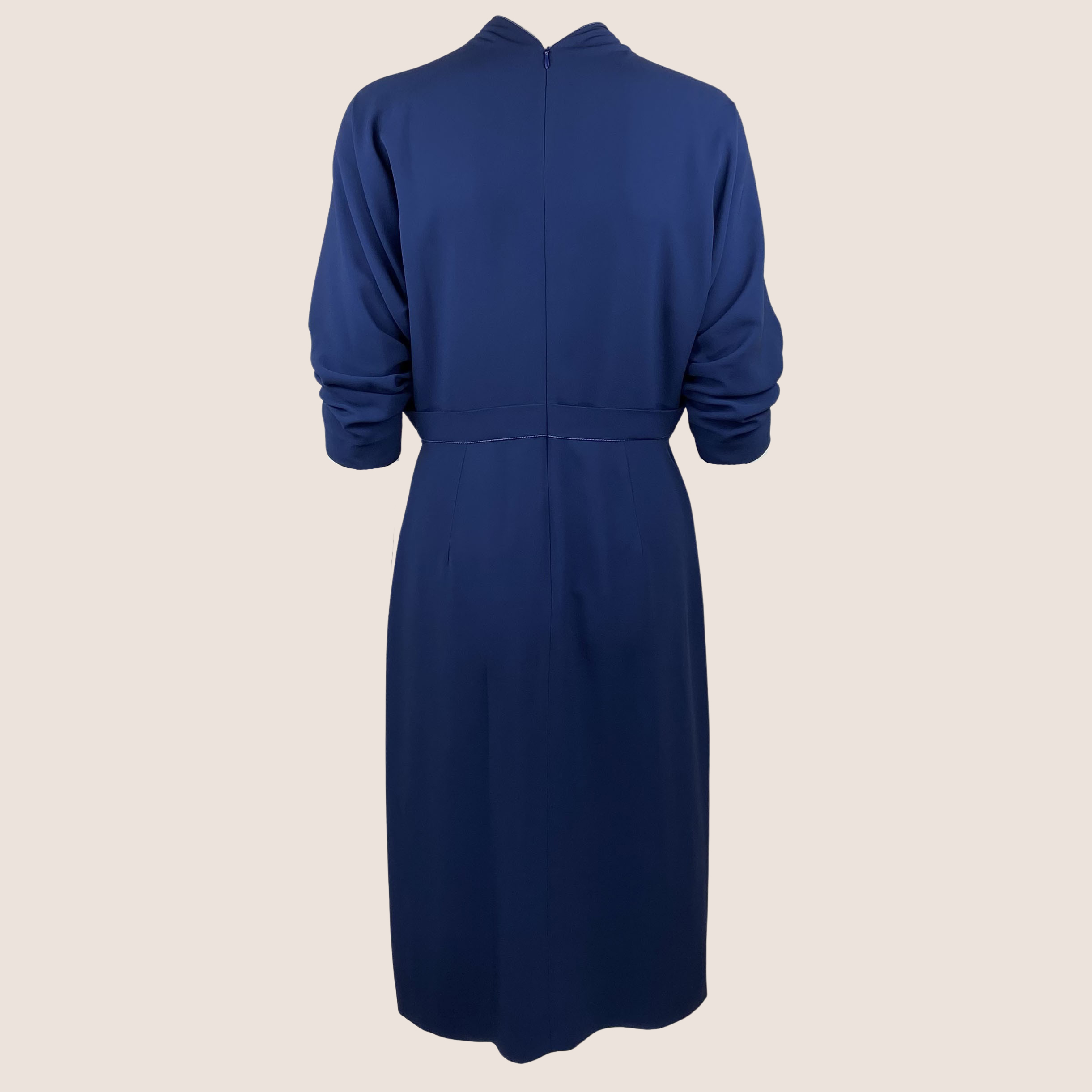 Navy Dress With Bow