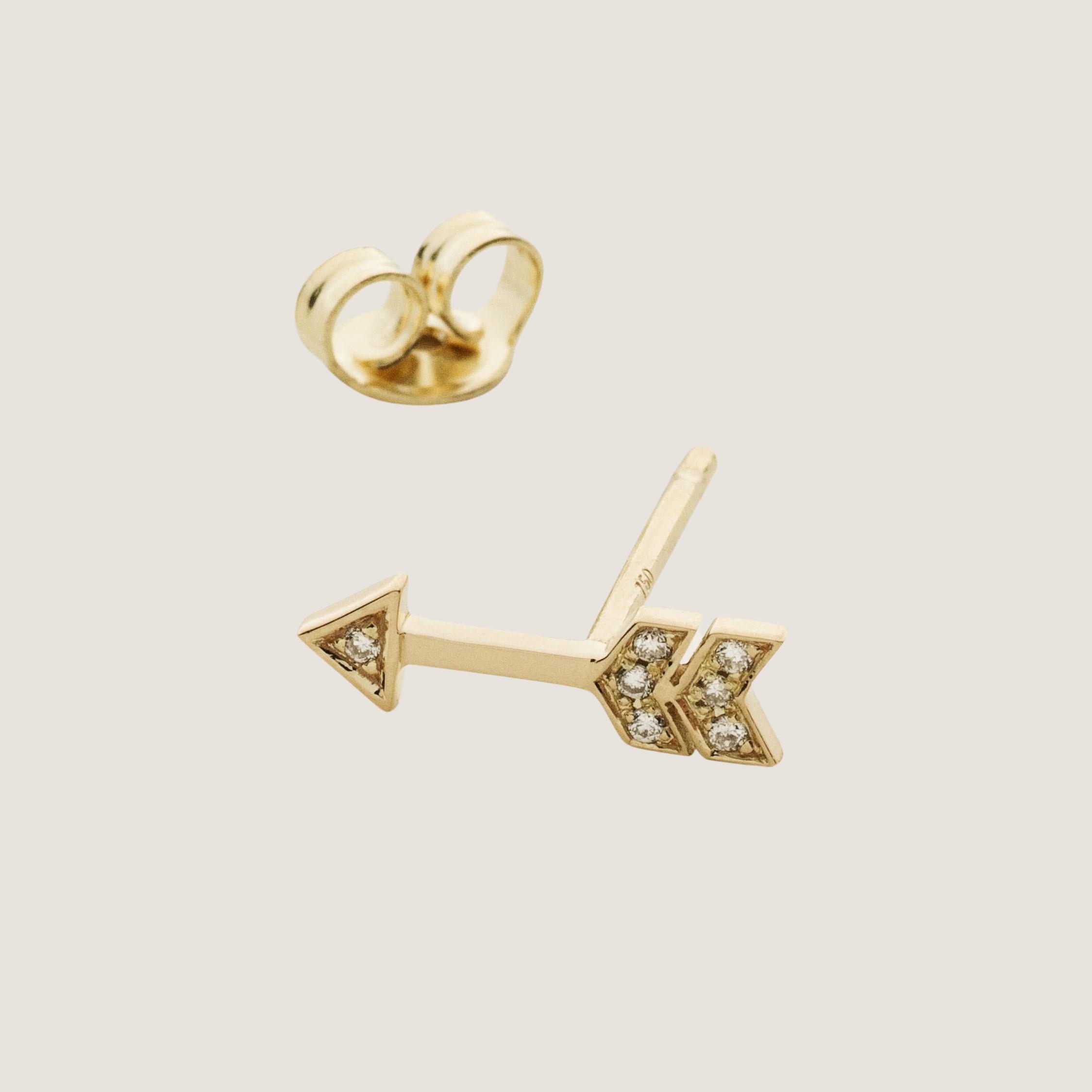 Arrow Diamond Sticker Gold