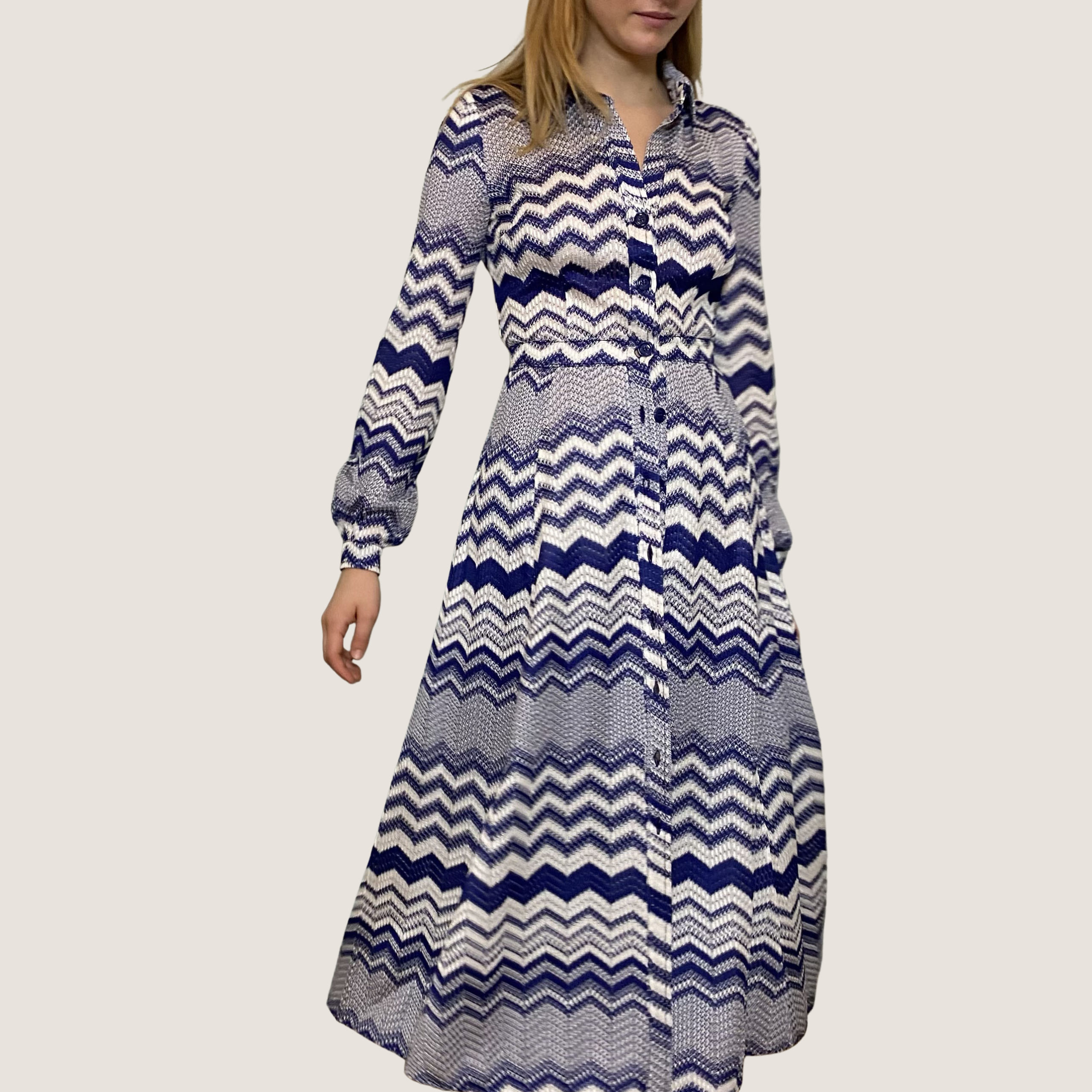 Zig-Zag Violet Dress