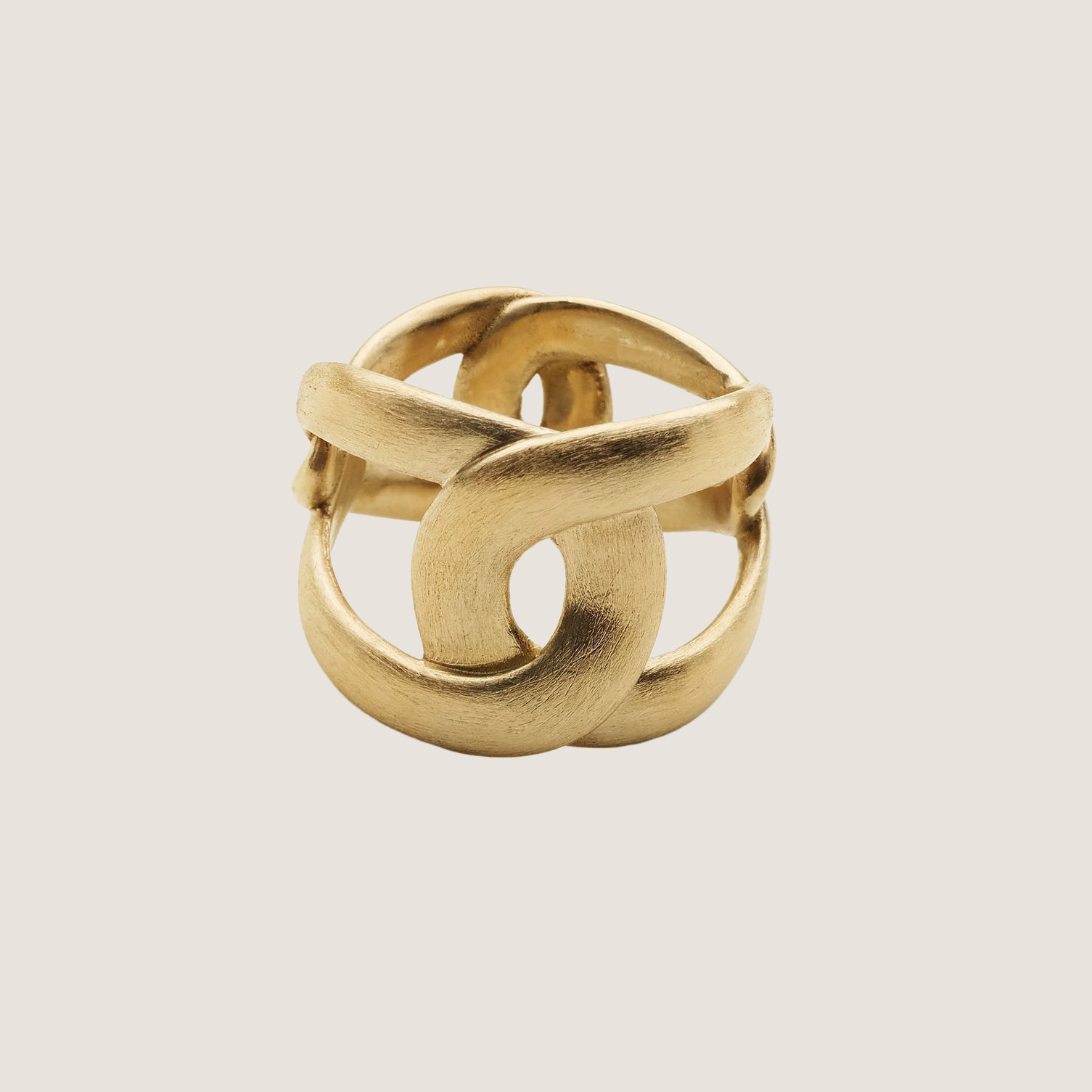 Tall 4 Tune Ring - Gold Plated