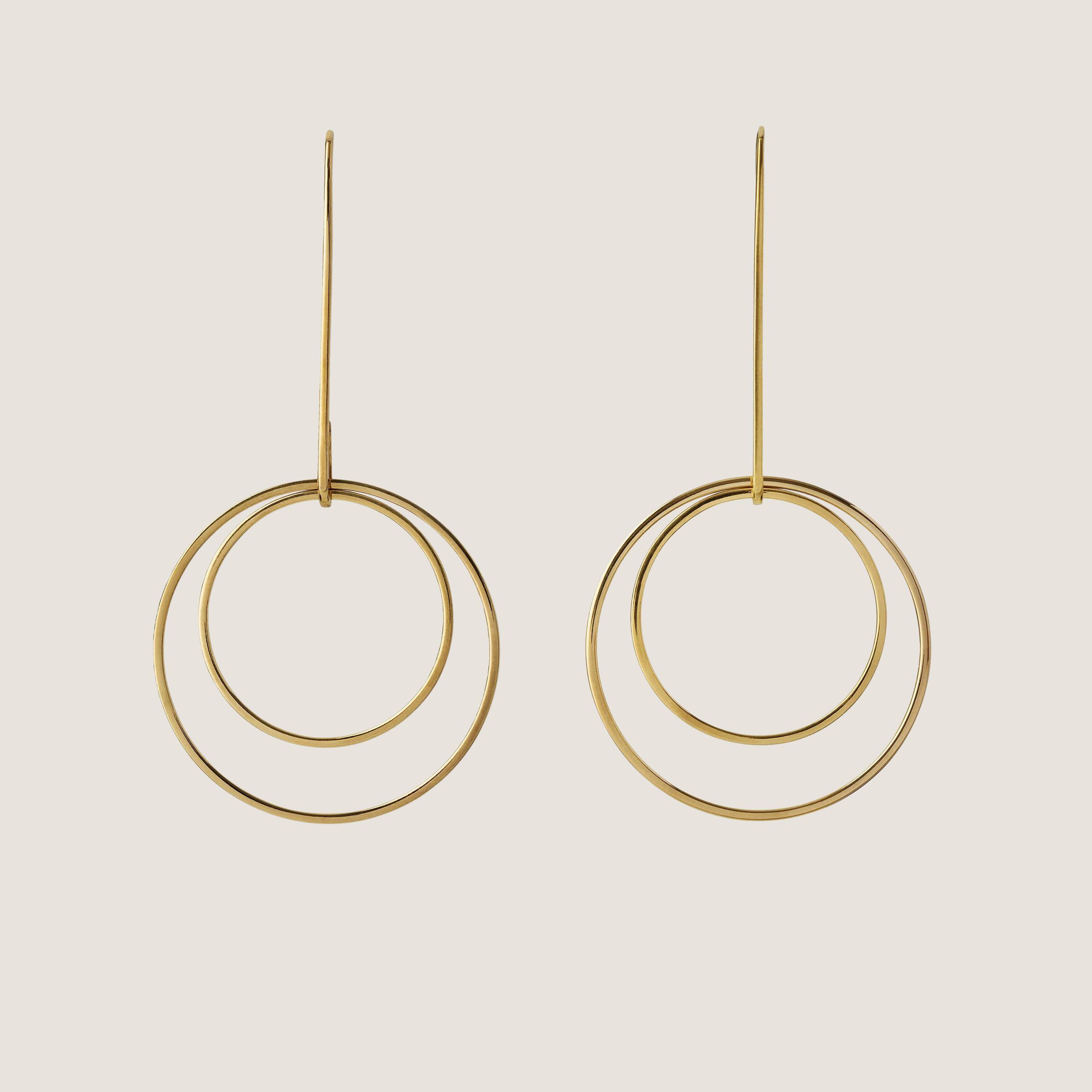 Disk Earrings - Gold