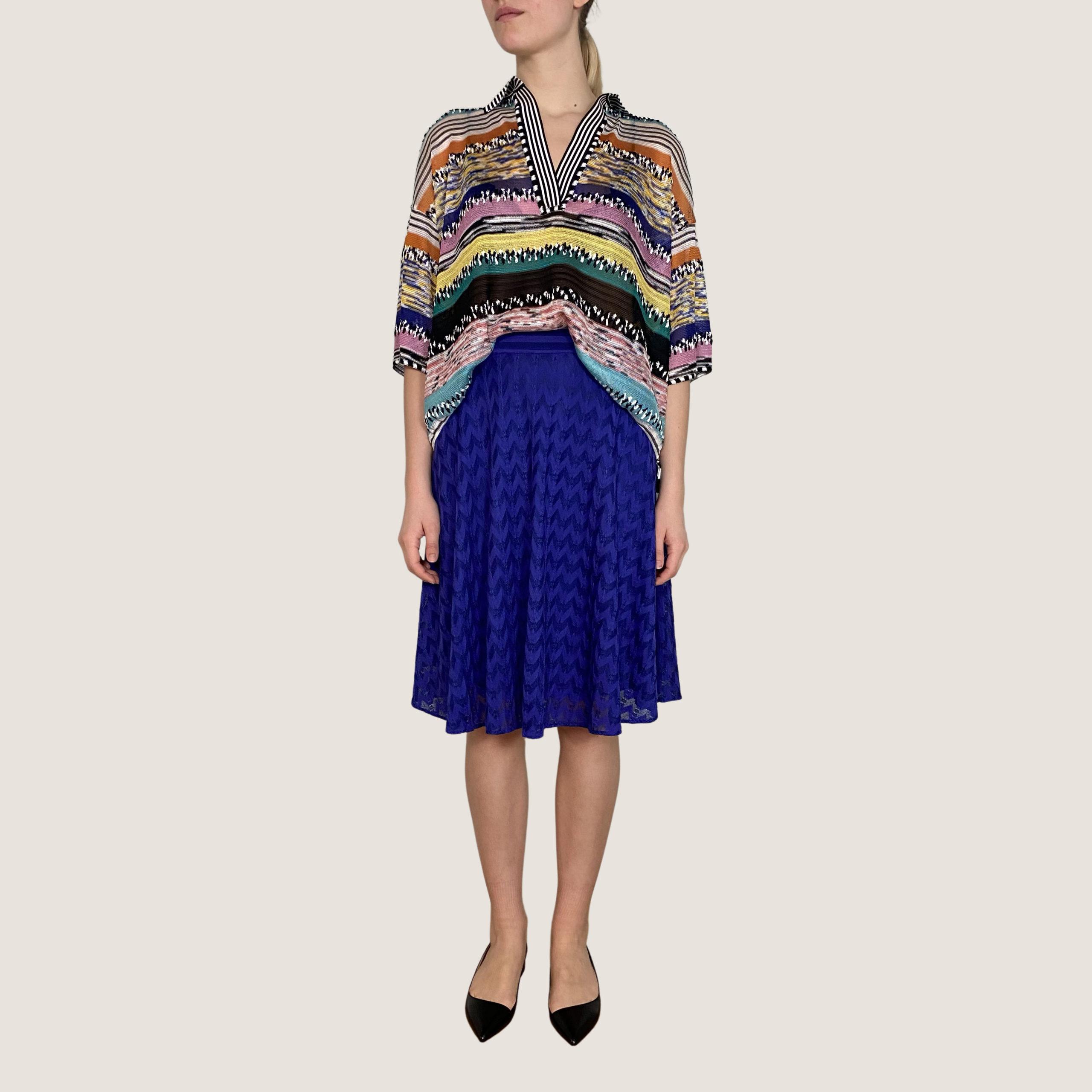 Blue-Purple Zig-Zag Skirt