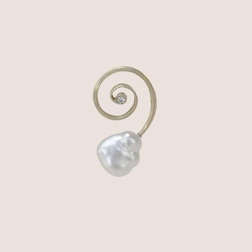 Pearl Diamond Earring
