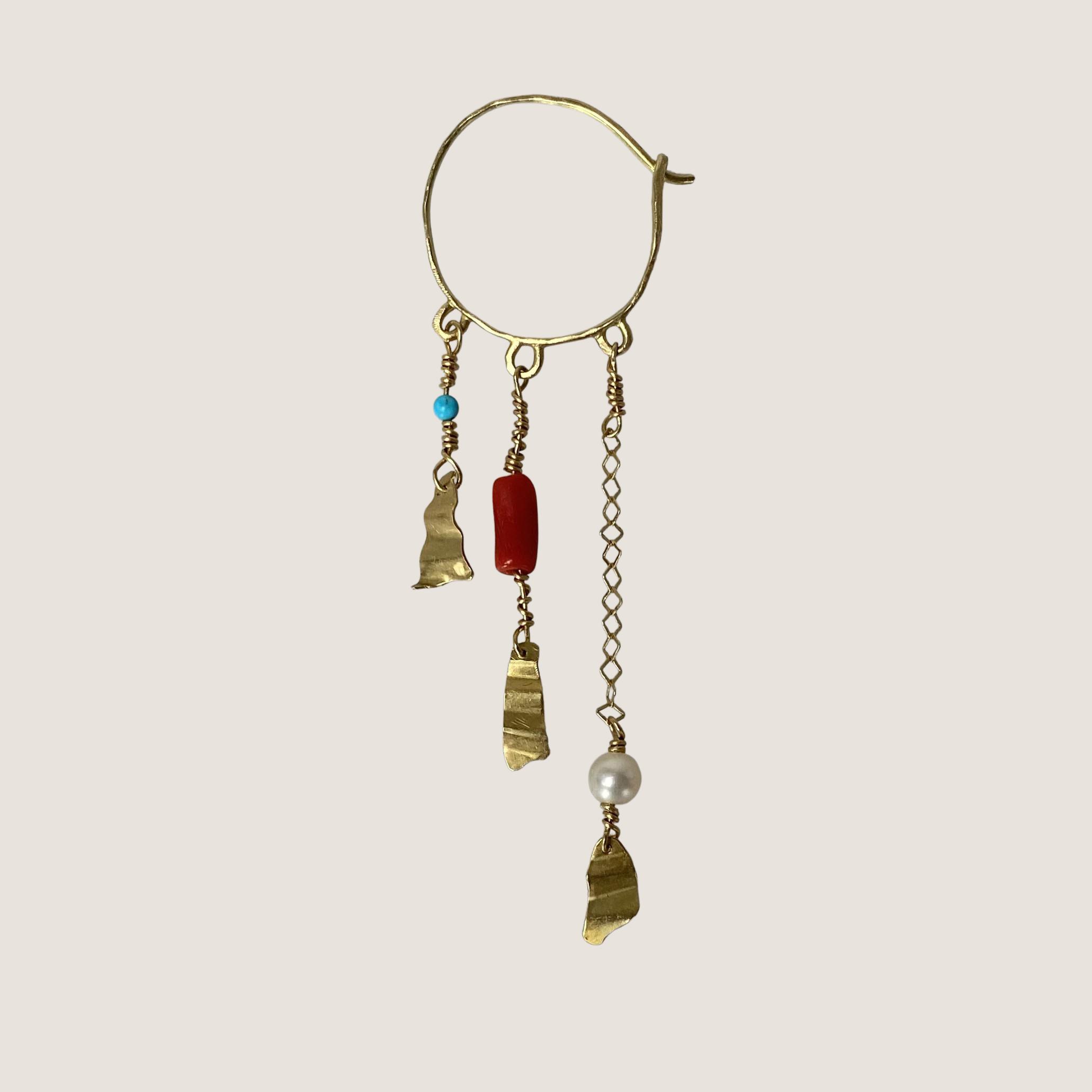 Long Chain Creol Pearl Earring