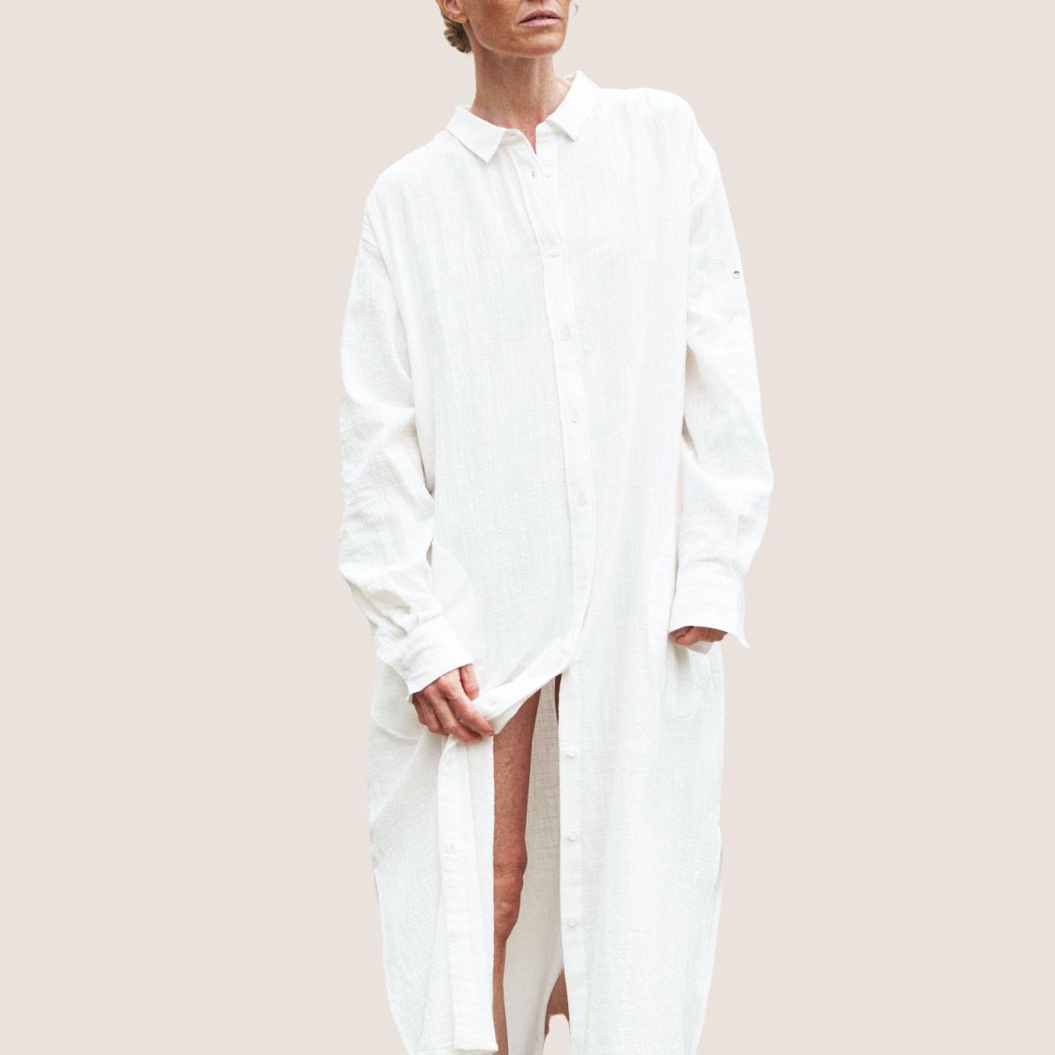 Shirt Robe Crepe