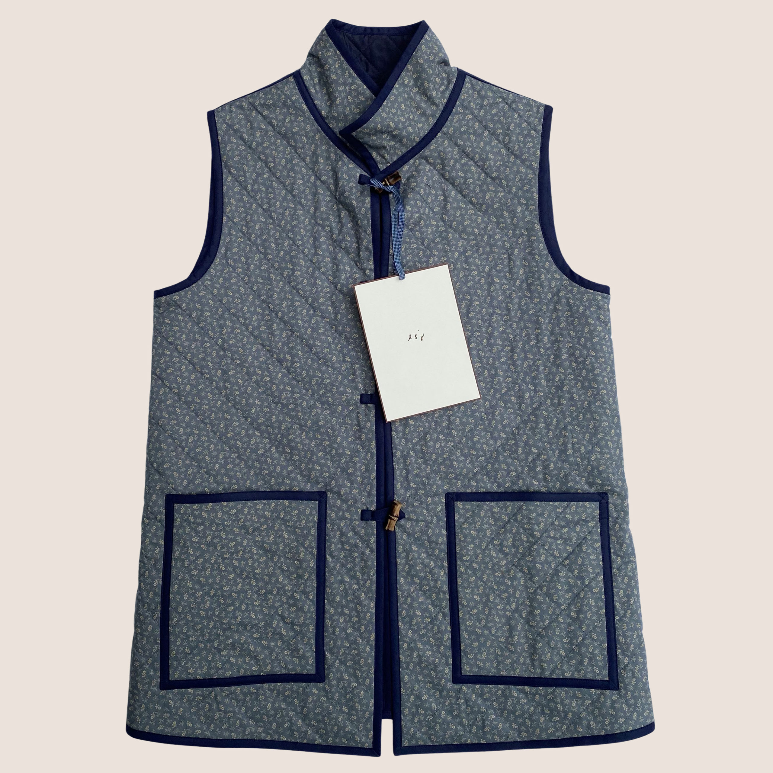 Bespoke Quiltted Waistcoat - Dove