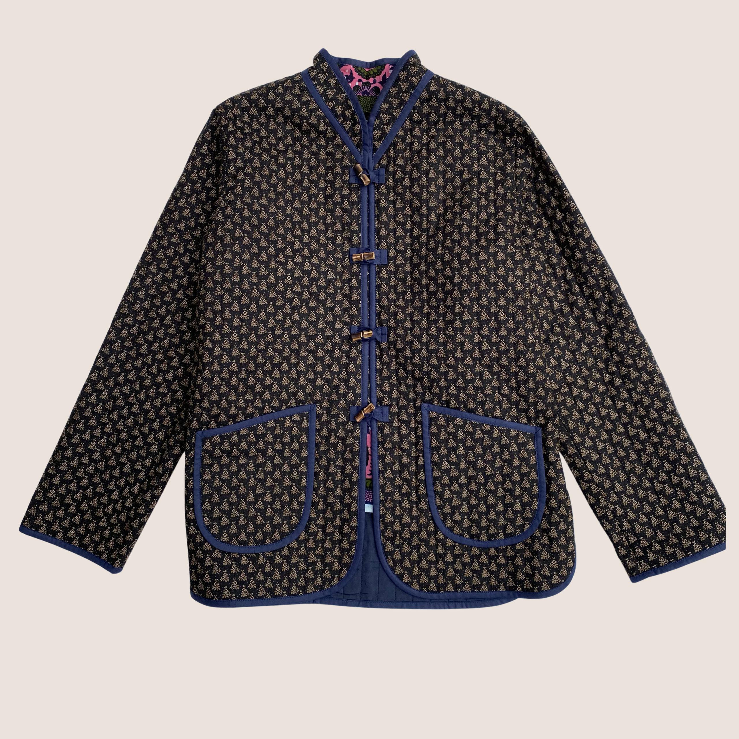 The Original Quilt Jacket - Fleur Noir