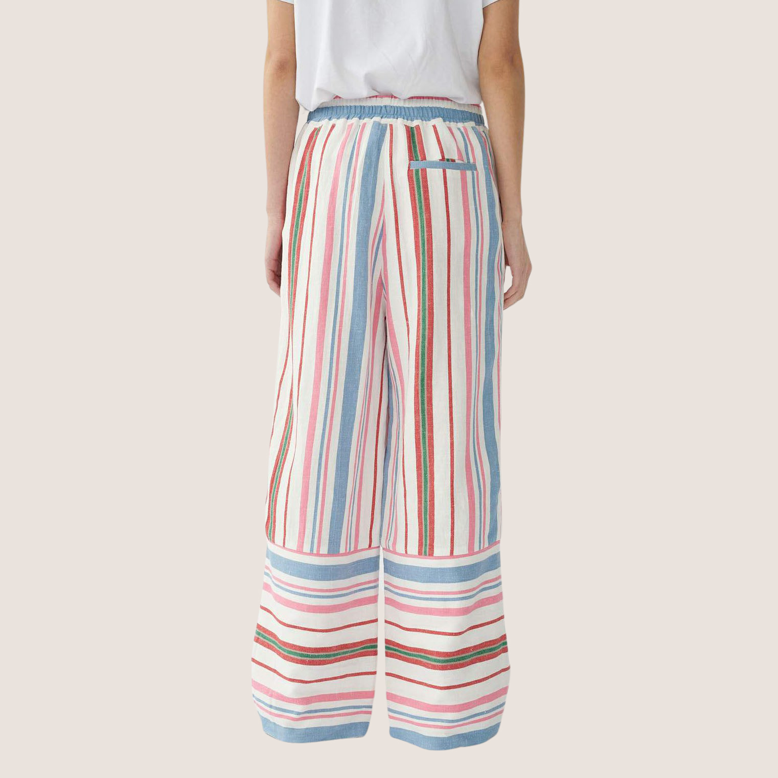 Stripy Linen PJ Trousers
