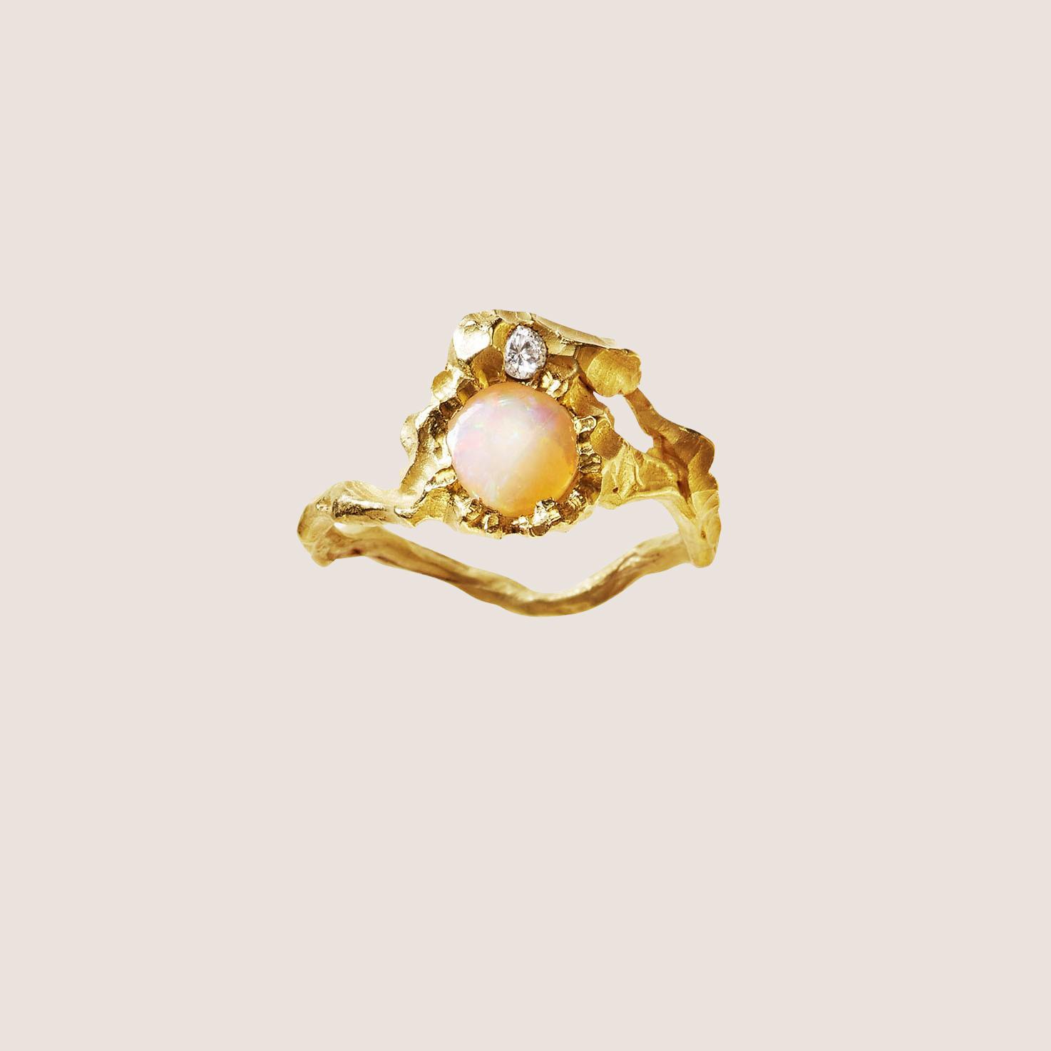 Sun Opal Ring