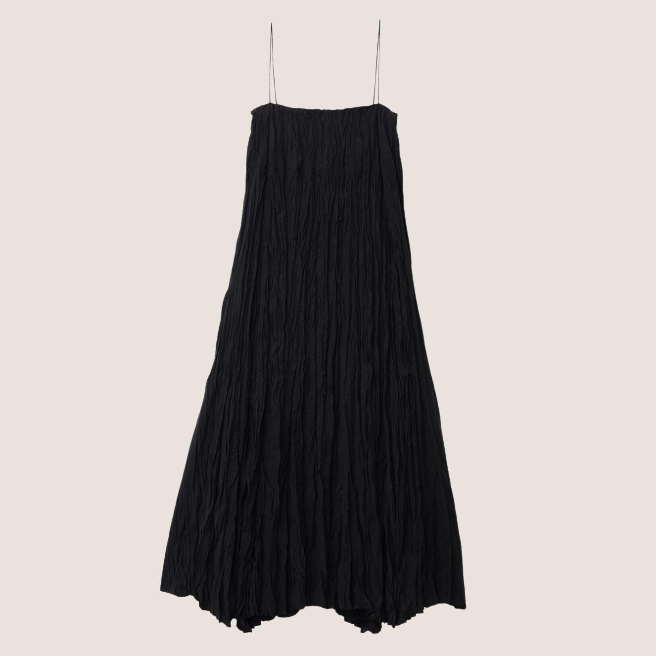 Crinkled Silk Dress