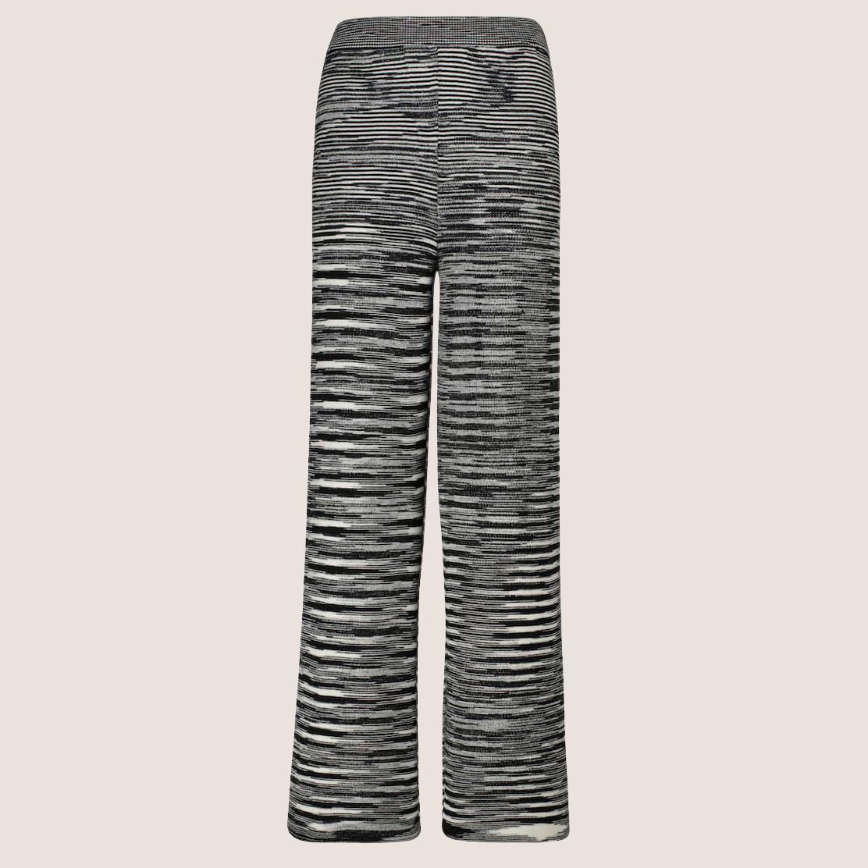 Black, Grey & White Knit Trousers