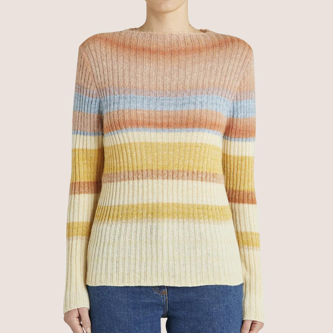 Multi Colored Striped Sweater