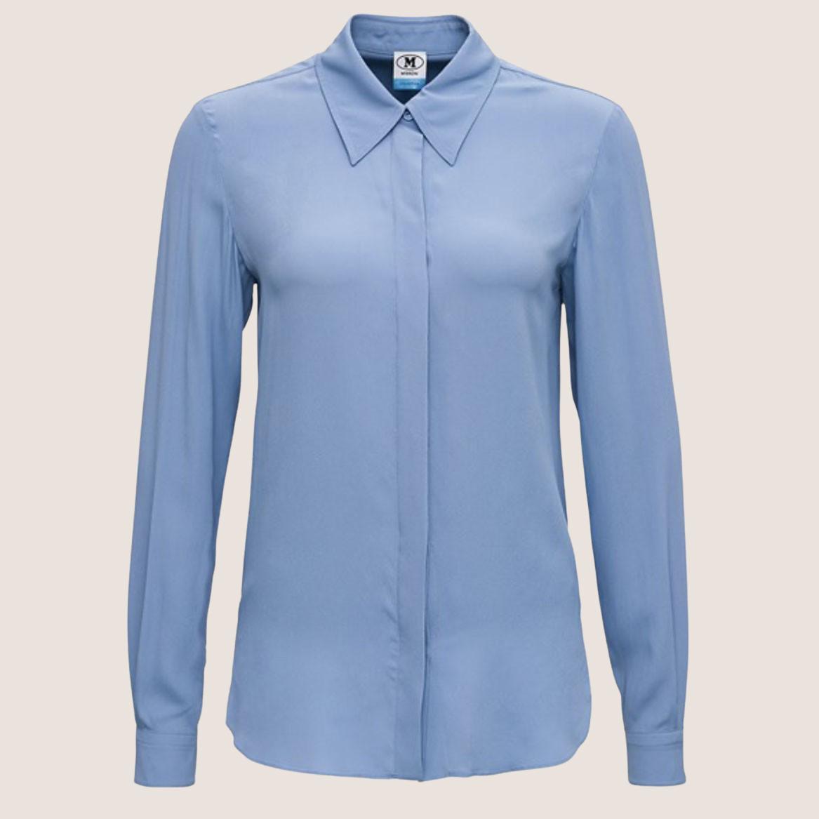 Dusty Blue Silk Shirt
