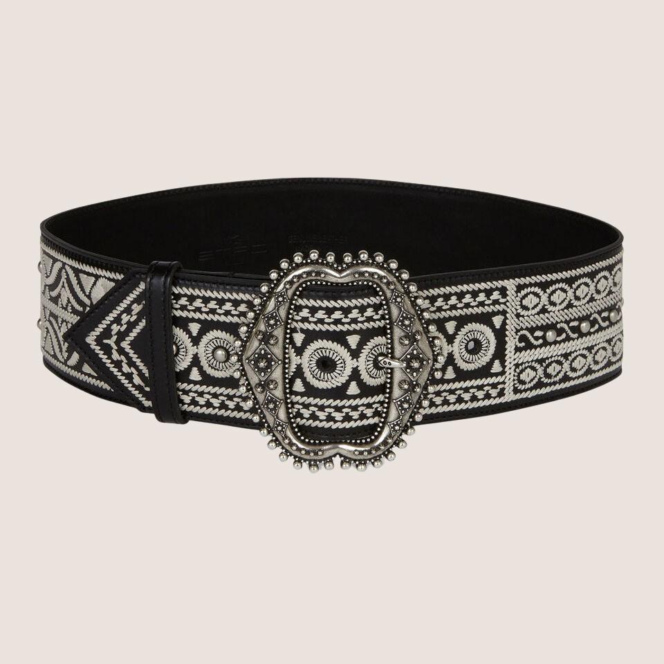 Folk-Style Embroidery Belt