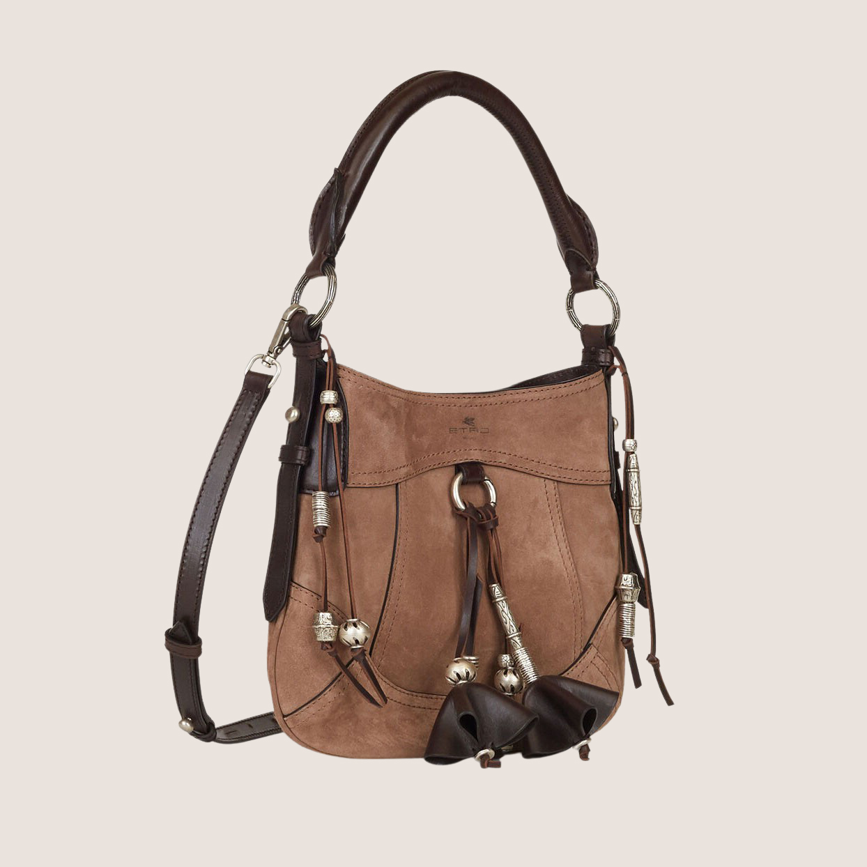 Suede Bag With Tassels - Small