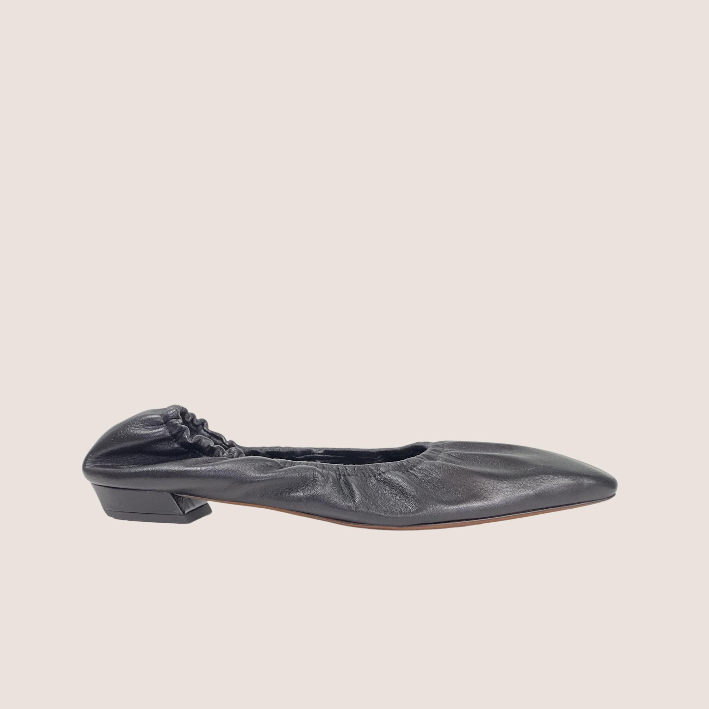 Ruched Ballet Flats
