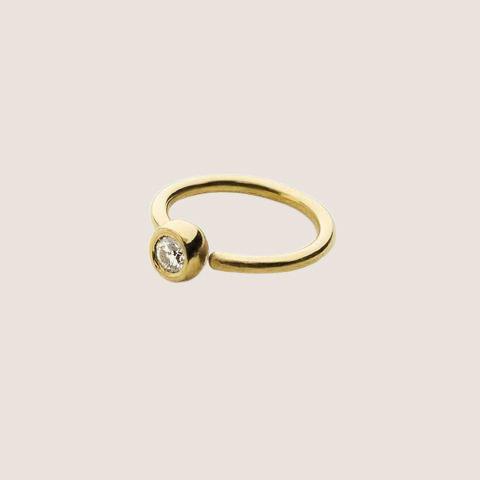 Mini Hoop - Gold & Diamond