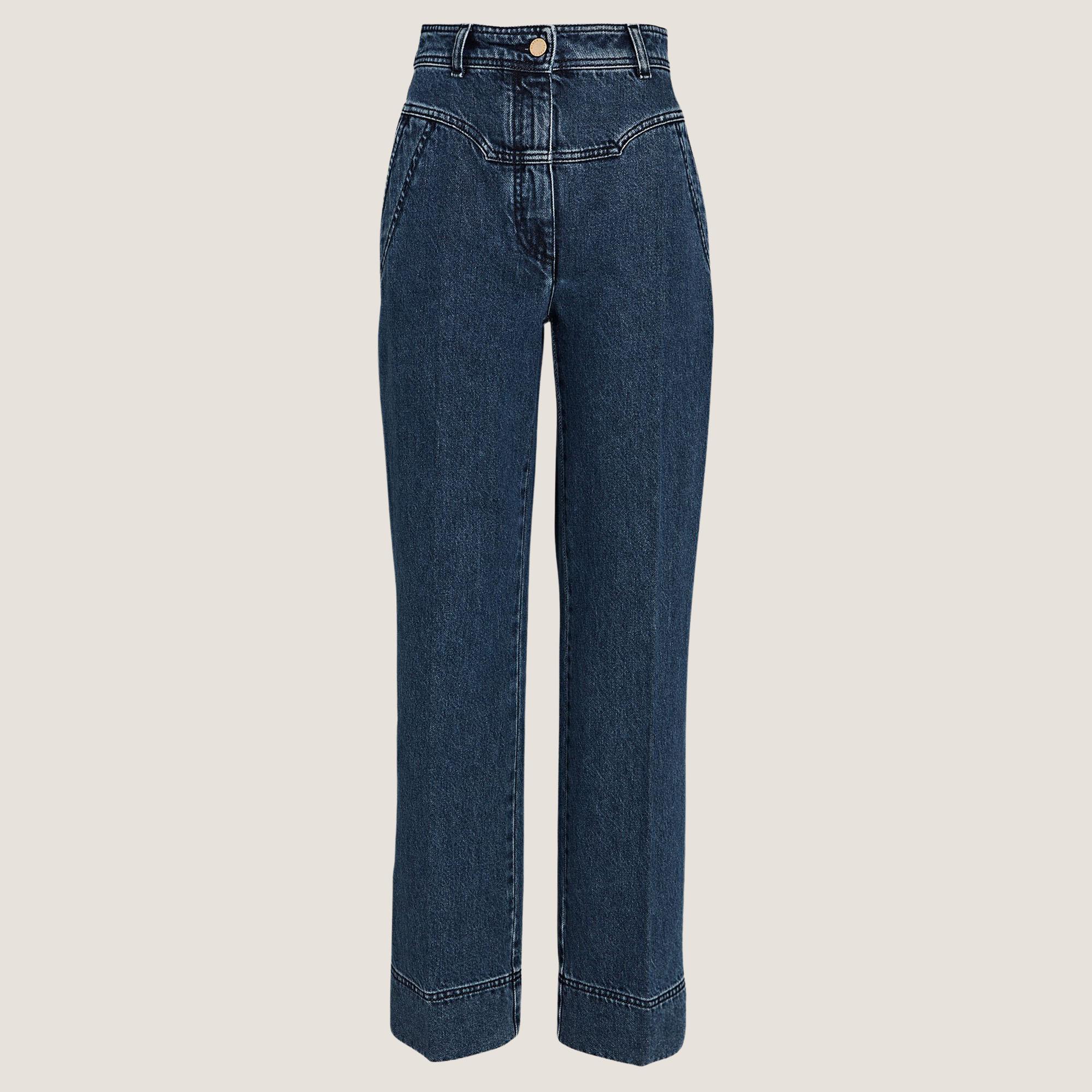Yoke Wide-Leg Jeans