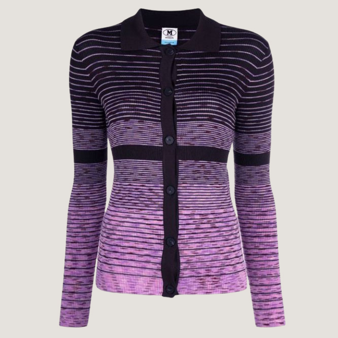 Knitted Long Sleeves Polo