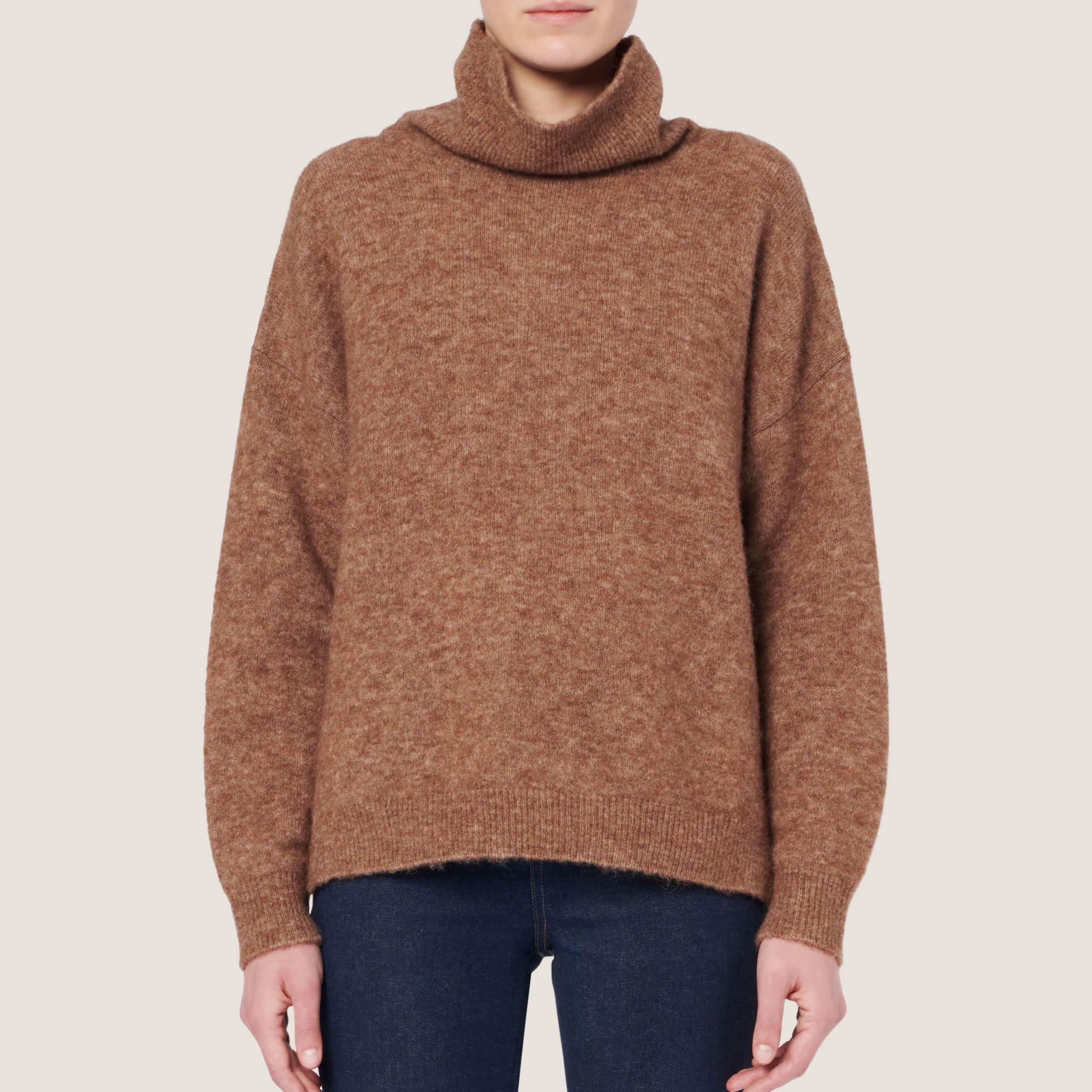 Sateen High-Neck Sweater