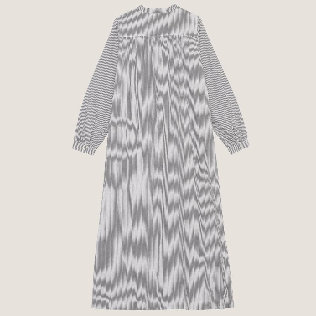 Painter Shirtdress - White/Grey Stripe