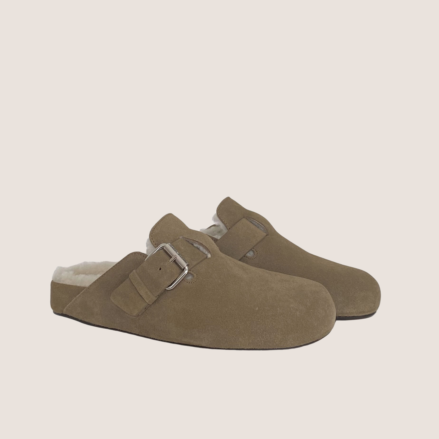 Mirvin Suede Shearling Mules