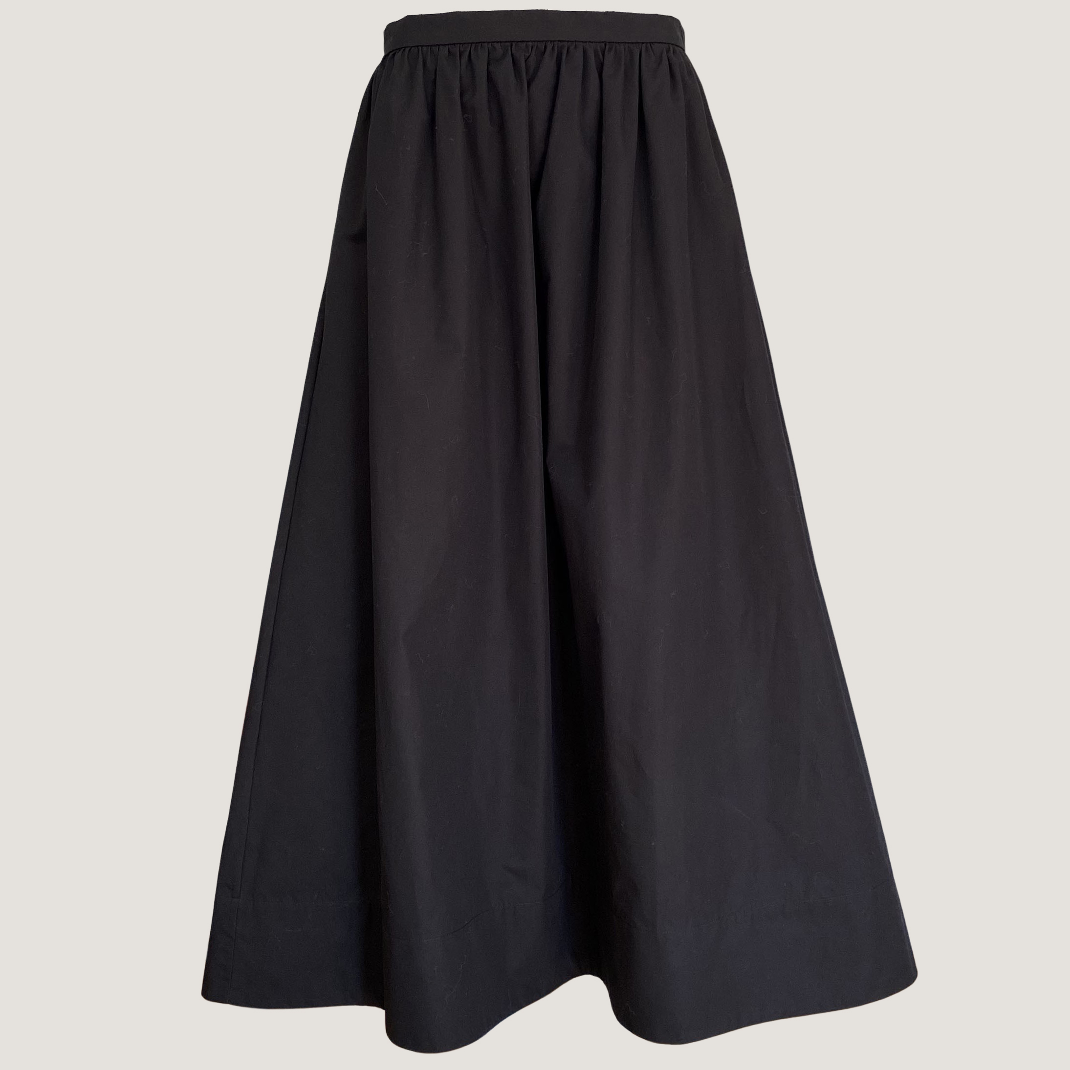 Black Poplin Skirt