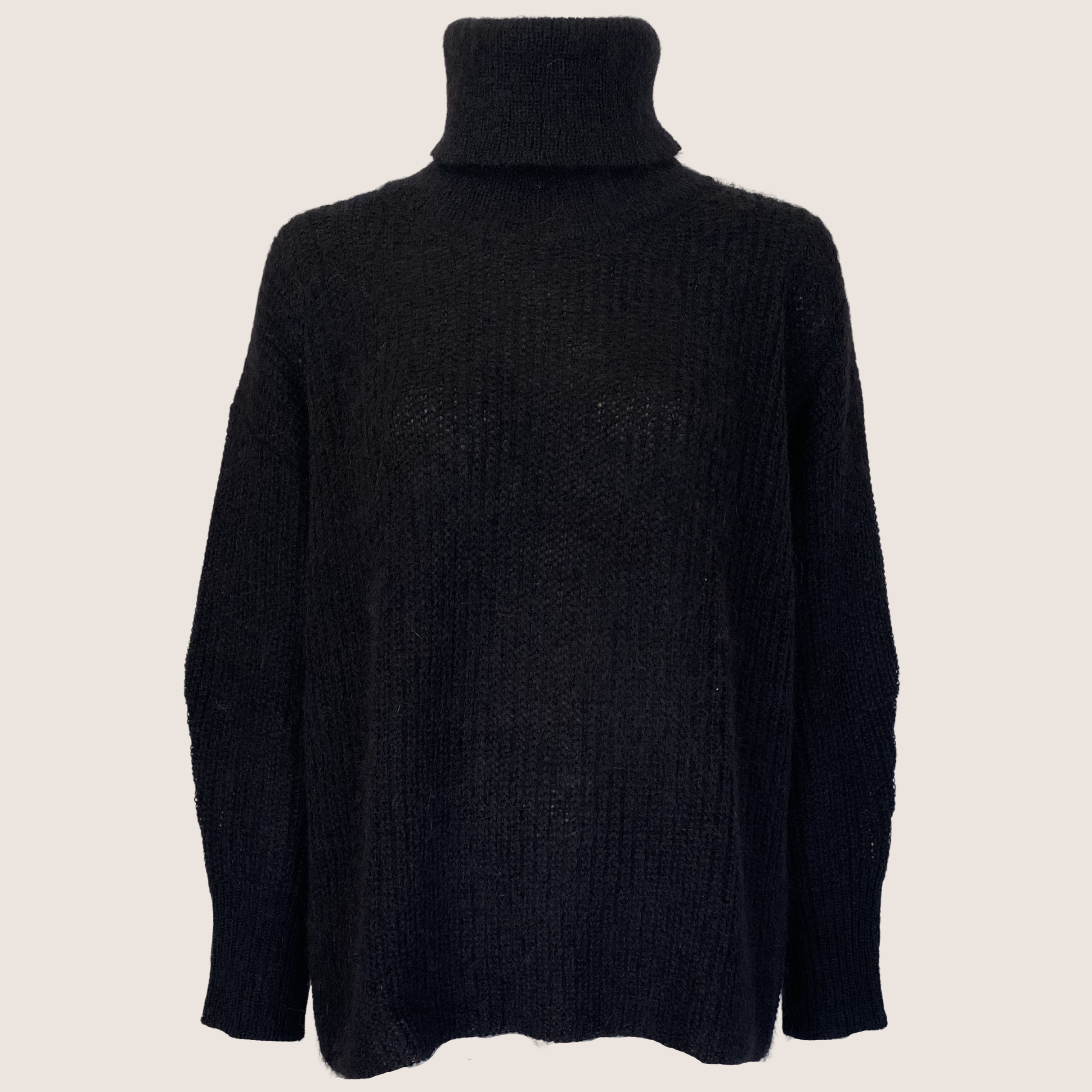 Mohair Turtle-Neck Sweater