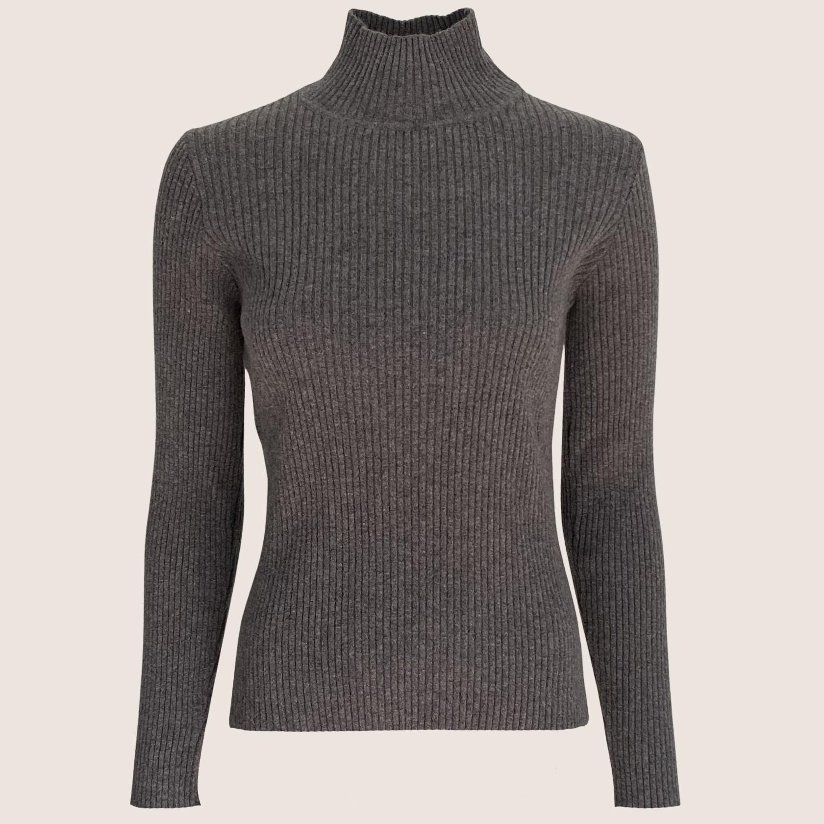 Rib Turtle Neck Sweater